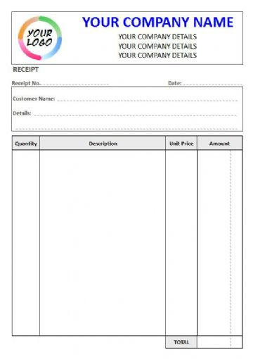 NCR Receipt Pad, 4 Column